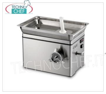 Technochef - REFRIGERATED MEAT MINCER, with MOUTH 32, YIELD 650 Kg / h, mod. TC32NEVADA REFRIGERATED MEAT MINCER, with MOUTH 32, SIRMAN brand, YIELD 650 Kg / h, Professional, industrial, V.230 / 1, Kw. 1,84, Weight 60 Kg, dim.mm.637x455x447h