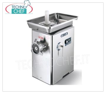 REFRIGERATED MEAT MINCER, with MOUTH 32, YIELD 500 Kg / h, mod. TC32BARCELLONAICE REFRIGERATED MEAT MINCER, with MOUTH 32, SIRMAN brand, with THERMOELECTRIC COOLING SYSTEM on neck and mouth, YIELD 500 Kg / h, Professional, Industrial, V.230 / 1, Kw. 1,84, Weight 48 Kg, dim.mm.355x500x580h