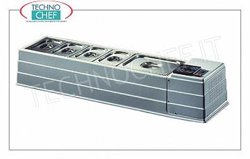 Refrigerated display case in ABS, 1270x330 mm Horizontal refrigerated display case in white ABS / plastic, without protection, temp. operating pressure + 2 / + 10 ° C, basins excluded, V.230 / 1, Kw.0.13, Weight 25 Kg, dim.mm.1270x330x230h