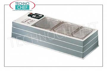 Refrigerated display cabinet in ABS, 1020x410 mm Bench horizontal refrigerating display case in ABS / white plastic, without protection, temp. operating temperature + 2 / + 10 ° C, excluding basins, V.230 / 1, Kw.0.13, Weight 30 Kg, dim.mm.1020x410x220h