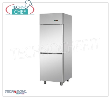 Industrial-Professional Freezer Wardrobe 2 1/2 doors, lt.700, PASTRY, TECNODOM Brand Refrigerator / Freezer Cabinet 2 half-doors, TECNODOM Brand, with stainless steel structure, lt.700 capacity, low temperature -18 ° / -22 ° C, ventilated refrigeration, PASTRY TABLES 600x400 mm, V.230 / 1, Kw.0 PASTRY , 65, Weight 135 Kg, dim.mm.710x800x2030h