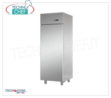 Professional Freezer Wardrobe 1 door, lt.700, PASTRY, Negative Temperature, TECNODOM Brand 1-door Refrigerator / Freezer Cabinet, TECNODOM Brand, with stainless steel structure, lt.700 capacity, low temperature -18 ° / -22 ° C, ventilated refrigeration, PASTRY Pans 600x400 mm, V.230 / 1, Kw.0, 65, Weight 132 Kg, dim.mm.710x800x2030h