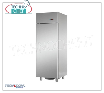 TECNODOM - Professional Fridge Cabinet for Fresh Fish, 1 Door, lt.700, Mod.AF07EKOMTNFH 1 door refrigerator cabinet, TECNODOM brand, stainless steel structure, lt.700 capacity, operating temperature -2 ° / + 8 ° C, ventilated refrigeration, including 6 GN1 / 1, V.230 / 1, Kw trays. 0,385, Weight 110 Kg, dim.mm.710x800x2030h
