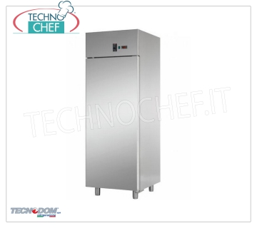 TECNODOM - Fridge Cabinet 1 Door, lt.700, PASTRY, Professional, Ventilated, Mod.AF07EKOMTNPS Refrigerator 1 door, TECNODOM brand, with stainless steel structure, lt.700 capacity, operating temperature 0 ° / + 10 ° C, ventilated refrigeration, PASTRY TABLE mm 600x400, V.230 / 1, Kw.0,385, Weight 120 Kg, dim.mm.710x800x2030h