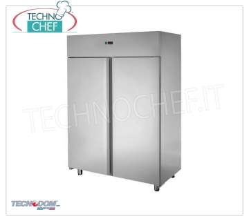 Industrial-Professional Freezer Cabinet 2 doors, lt.1200, negative temperature, TECNODOM Brand 2-door Refrigerator / Freezer Cabinet, TECNODOM Brand, with stainless steel structure, lt.1200 capacity, low temperature -18 ° / -22 ° C, ventilated refrigeration, V.230 / 1, Kw.0,7, Weight 144 Kg , dim.mm.1420x700x2030h