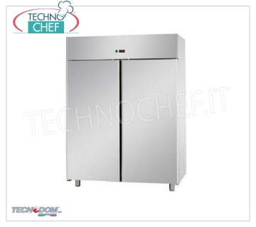 Industrial-Professional Freezer Wardrobe 2 doors, lt.1400, PASTRY, TECNODOM Brand 2-door Refrigerator / Freezer Cabinet, TECNODOM Brand, with stainless steel structure, lt.1400 capacity, low temperature -18 ° / -22 ° C, ventilated refrigeration, PASTRY Pans 600x400 mm, V.230 / 1, Kw.0, 7, Weight 169 Kg, dim.mm.1420x800x2030h