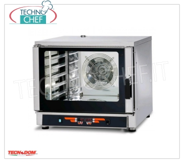 Tecnodom - Digital Electric Steam Convection Oven GN 1/1 ,, mod. FEDL05NEMIDVH2O. CONVENTION-STEAM OVEN electric, Ventilated, Professional for GASTRONOMY and PASTRY, capacity 5-TRAYS Gastro-Norm 1/1 or mm.600x400 (excluded), DIGITAL COMMANDS, 9 cooking programs, V.400 / 3 + N, Kw.6 , 45, Weight 87 Kg, dim.mm.840x910x750h