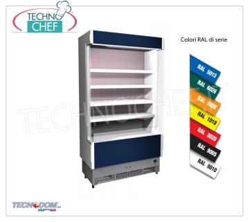 Frigor Murale Display rack, VULCANO Line Deep 60 cm, LONG 68 cm, with and without cooling unit EXHIBITOR WALL FRIGOR, Brand TECNODOM, Line VULCANO 60, with 4 adjustable shelves, LIGHTING higher than neon, temperature + 3 ° / + 5 ° C, prepared for REMOTE REFRIGERANT UNIT, V.230 / 1, Kw.0,044, Weight 100 Kg, dim.mm.680x602x1970h