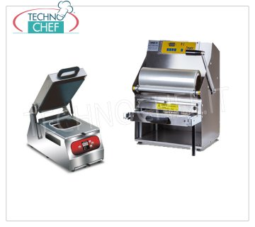 Manual heat-sealing machines for trays