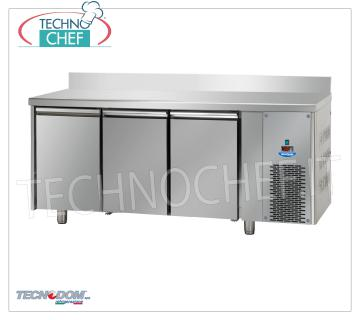 FREEZER / FREEZER TABLE 3 doors with Upstand, lt.460, TECNODOM Brand FREEZER / FREEZER TABLE 3 DOORS with LIFT, TECNODOM brand, capacity lt.460, working temperature -18 ° / -22 ° C, ventilated refrigeration, Gastro-Norm 1/1, V.230 / 1, Kw.0, 7, Weight 127 Kg, dim.mm.1870x715x950h