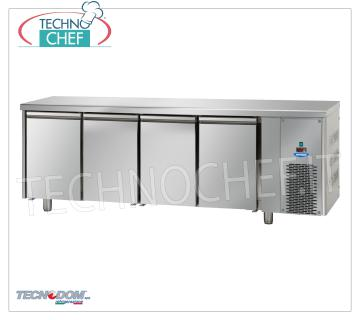 FREEZER / FREEZER TABLE 4 doors, lt.630, TECNODOM Brand 4-DOOR FREEZER / FREEZER TABLE, TECNODOM Brand, capacity 630, operating temperature -18 ° / -22 ° C, ventilated refrigeration, Gastro-Norm 1/1, V.230 / 1, Kw.0,728, Weight 147 Kg, dim.mm.2320x715x850h