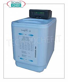 Technochef - Automatic water softener cabinet lt.13 Automatic water softener cabine cleaner for 13 lt. resin, electronic programming, max yield: 1200 lt / h, V.12 (power supply included), dim.mm.320x520x525