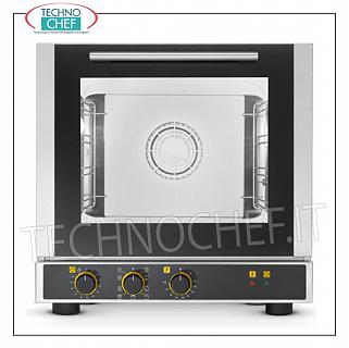 Tecnoeka - CONVECTION OVEN Electric with GRILL, 4 Trays 429x345 mm, Professional mod.EKF423M ELECTRIC CONVENTION OVEN Multi-purpose ventilated with GRILL, cooking chamber for 4 TRAYS of 429x345 mm, ELECTROMECHANICAL CONTROLS, V.230 / 1, Kw.2,6, Weight Kg.36,4, external dim.mm.590x695x590h