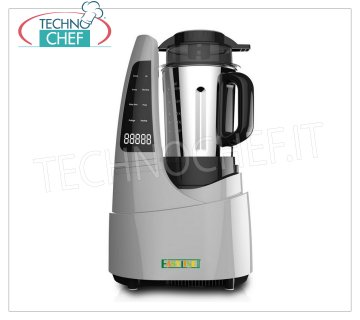 EASYLINE - Technochef, Professional Thermal Blender, Mod. TM1128 Blender with cooking function, EASYLINE-FIMAR, touch screen panel, stainless steel beaker, speed 26000 rpm, V.230 / 1, Kw.2.2 (Kw 1.00 for motor + Kw.1.2 for heating), Weight 4.5 Kg, dim.mm.270x200x505h
