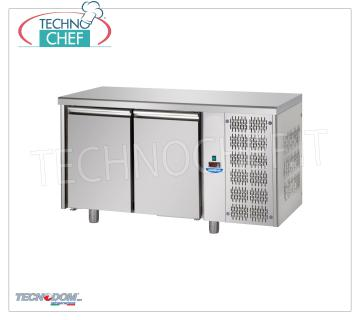 Refrigerated Table 2 DOORS, capacity lt.440, PASTRY, Brand TECNODOM REFRIGERATED TABLE 2 DOORS, TECNODOM Brand, capacity lt.440, PASTRY, working temperature 0 ° / + 10 ° C, Pastry Tiles mm 600x400, V.230 / 1, Kw.0,495, Weight 88 Kg, dim.mm. 1600x800x850h