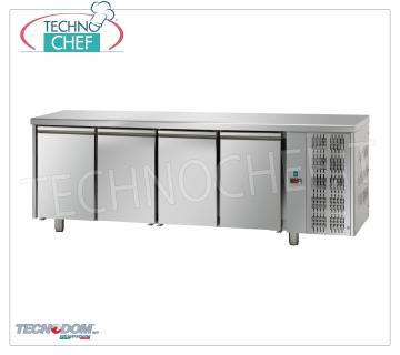 4 DOOR Refrigerated Table, capacity 890 l, PASTRY, TECNODOM Brand REFRIGERATED 4 DOOR TABLE, TECNODOM Brand, capacity 890 l, PASTRY, working temperature 0 ° / + 10 ° C, Baking Tray mm 600x400, V.230 / 1, Kw.0,495, Weight 144 Kg, dim.mm. 2700x800x850h