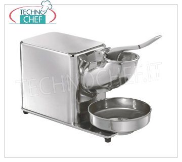TECHNOCHEF - Professional Ice Crusher, Speed 1400 rpm, Mod.TGH Ice crusher made of stainless steel and aluminum, speed 1400 rpm, ideal for the production of ice flakes, V.230 / 1, Kw.0.3, Weight 12.50 Kg, dim.mm.400x180x350h
