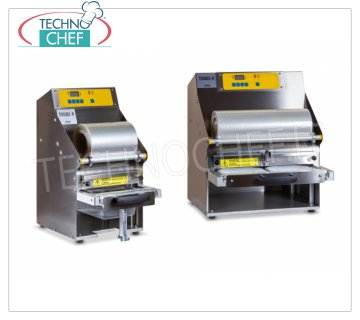 Semi-automatic heat-sealing machines for trays