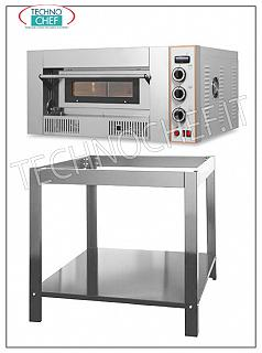 Modular gas pizza oven, 620x620x155h mm chamber 1 chamber gas pizza oven from mm. 620x620x155h, for 4 pizzas diam. 300 mm., Refractory top, heat output 13.2 Kw, external dimensions mm. 1000x920x475h