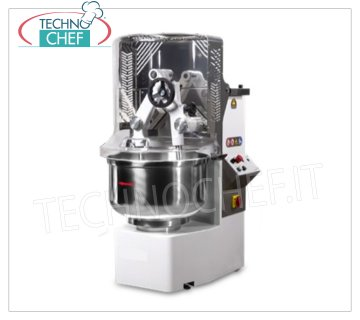 Technochef - DIFFUSER ARMS MIXER, with FIXED STAINLESS STEEL TANK, lt.67, Mod.TUFF452T Kneader with dipping arms, TUFF 2T line, with special cast iron gears and oil baths, 67 liter stainless steel fixed bowl, 46 kg dough capacity, 2 speed version, 2 digital timers, V.400 / 3, Kw. 1.5 / 2.2, Weight 296 Kg, dim.mm.650x870x1330h
