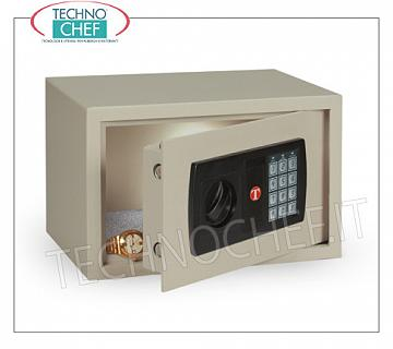 Technochef - Safes for hotel rooms Safe for furniture, with digital electric lock, audible and visual signals, capacity 9.5 liters, weight 7.5 Kg, dim.mm.200x310x200h