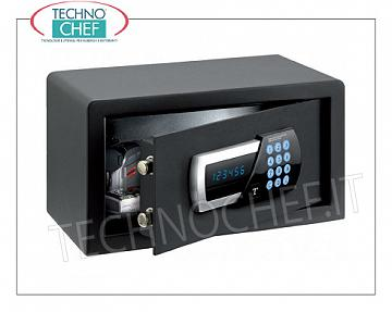 Technochef - Safes for hotel rooms Safe for furniture, with digital motorized electric lock, signaling of all functions via blue LED display, capacity 10 liters, weight 9 Kg, dim.mm.200x350x200h