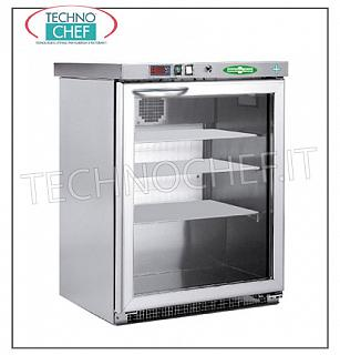 Pharmacy Refrigerator, 1 Door, lt.129 Frigor for medicines, 1 door, ventilated, temp. + 2 ° + 8 °, lt.129, stainless steel 304 structure