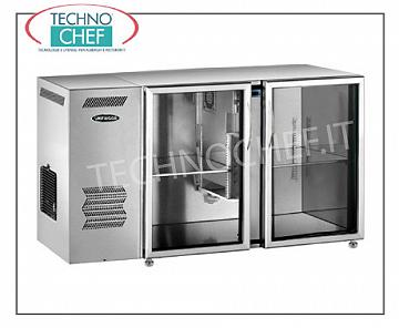 Fridge bars for bar Refrigerated multi-purpose refrigerator, 2 glass doors, ventilated, temp + 2 ° + 8 °, stainless steel / stainless steel