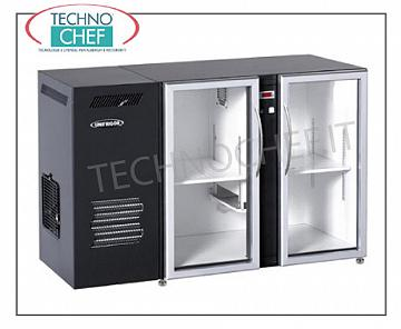 Fridge bars for bar Refrigerated multi-purpose refrigerator, 2 glass doors, ventilated, temp + 2 ° + 8 °, east / int skinplate