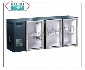 Fridge bars for bar Refrigerated multi-purpose refrigerator, 3 glass doors, ventilated, temp + 2 ° + 8 °, east / int skinplate
