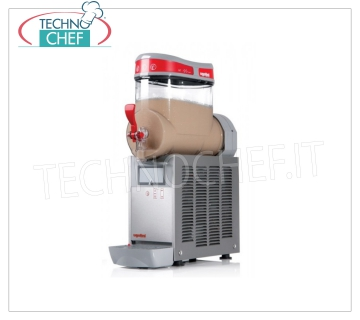 TECHNOCHEF - Machine for Granite / Sorbets / Cold Creams with 1 TANK of lt.6, Mod.MT1MINI / G Table slush machine, Mini Line, with 1 lt.6 tank in unbreakable non-toxic polycarbonate, stainless steel body, air cooled condenser, V.230 / 1, Kw.0.46, Weight 22 Kg, dim.mm.180x470x650h