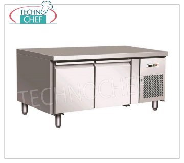 Forcar - 2-door Refrigerated Refrigerated Table, Temp. -2 ° / + 8 ° C, lt. 170, Ventilated, mod.G-UGN2100TN Refrigerated counter 2 DOORS, Professional, capacity 170 lt, temperature -2 ° / + 8 ° C, ventilated refrigeration, ECOLOGICAL in Class B, Gas R290, Gastronorm 1/1, V.230 / 1, Kw.0,26, Weight 82 Kg, dim.mm.1360x700x650h