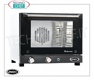 UNOX - Technochef, Electric convection oven 3 trays, manual controls, Mod.XF003ROBERTA UNOX electric CONVENTION OVEN-MICRO Line, Mod. ROBERTA for GASTRONOMY and PASTRY, capacity 3 TRAYS from mm. 342x242, version with MANUAL CONTROLS, V.230 / 1, Kw. 2.7, Weight 16 Kg, dim.mm. 480x523x402h