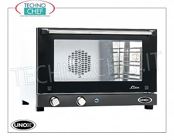 UNOX - Technochef, Electric convection oven 3 trays, manual controls, Mod.XF013LISA UNOX ELECTRIC CONVENTION OVEN-MICRO Line, Mod. LISA for GASTRONOMY and PASTRY, capacity 3 TRAYS from mm. 460x330, version with MANUAL CONTROLS, V.230 / 1, Kw. 2.7, Weight 20 Kg, dim.mm. 600x587x402h
