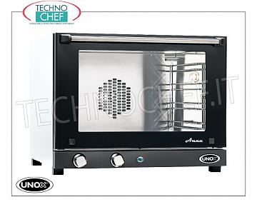 UNOX - Technochef, Electric convection oven 4 trays, manual controls, Mod.XF023ANNA UNOX ELECTRIC CONVENTION OVEN-MICRO Line, Mod. ANNA for GASTRONOMY and PASTRY, capacity 4 TRAYS from mm. 460x330, version with MANUAL CONTROLS, V.230 / 1, Kw. 3.00, Weight 22 Kg, dim.mm. 600x587x472h