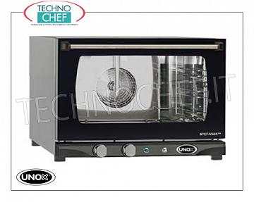 UNOX - Technochef, Electric convection oven with humidifier 3 trays, Mod.XFT113MANUAL H Electric CONVENTION OVEN with UNOX-MISS Line Humidifier, for GASTRONOMY and PASTRY, capacity 3 TRAYS from mm. 460x330, version with MANUAL CONTROLS and HUMIDIFIER, V. 230/1, Kw. 3.00, Weight 25 Kg, dim.mm. 600X655x429h