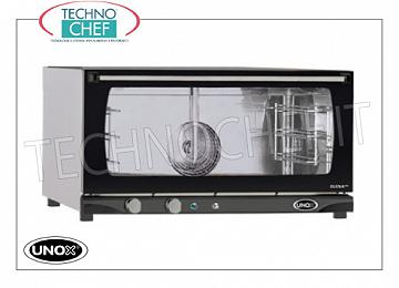 UNOX - Technochef, Electric convection oven with humidifier 3 trays, mod.XFT183MANUALH UNOX-MISS Line electric CONVENTION OVEN, for GASTRONOMY and PASTRY, capacity 3 TRAYS mm.600x400, version with MANUAL CONTROLS and HUMIDIFIER, V.230 / 1, Kw.3,2, Weight 40 Kg, dim.mm. 800x774x429h