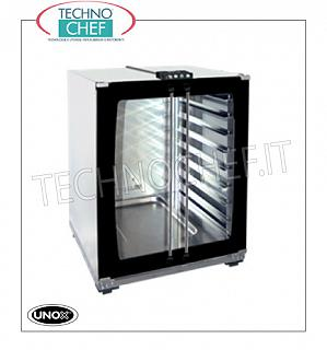 UNOX - Technochef, leavening cabinet for ovens with 8 trays of 460x330 mm LEVELER FOR OVENS Mod. XFT130 - XFT133 - XFT110 - XFT113 - XFT023 - XFT013, version with MANUAL CONTROLS, 2 glazing doors, capacity 8 TRAYS mm 460x330, V. 230/1, Kw 1.2, External Dimensions, mm 600x657x757H