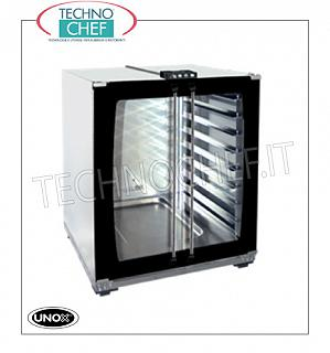 UNOX - Technochef, leavening cabinet for ovens, mod. XLT193, capacity 8 trays 600x400 mm, PROJECTOR FOR OVENS Mod. XFT190 - XFT193 - XFT180 - XFTT183 - XFT043, version with MANUAL COMMANDS, 2 Glass Doors, capacity 8 TRAYS from 600x400 mm, V. 230/1, Kw 1.2, Weight 37 Kg, dim.mm .800x713x757h