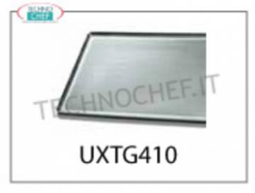 TECHNOCHEF - FLAT ALUMINUM PLATE, Mod.TG410 FLAT ALUMINUM PLATE, 600x400x15H - Indicated unit price, available in packs of 2 pieces