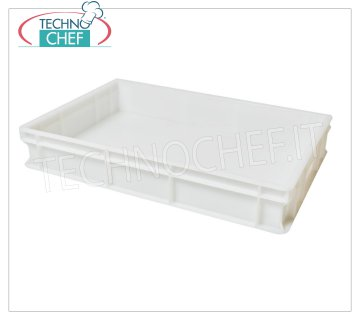 Stackable pizza tin container 600x400 H100, White color Pizza stackable pizza box, in polyethylene food, White color, dim.mm.600x400x100h