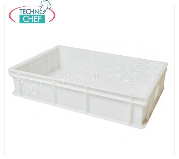 Stackable pizza tin container 600x400 H130, White color Pizza stackable pizza box, food grade polyethylene, White color, dim.mm.600x400x130h
