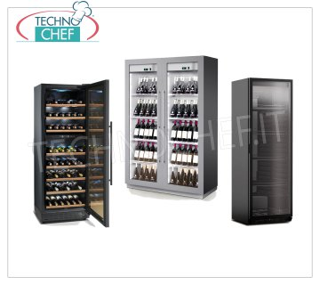 Painted foil refrigerated wine cabinets