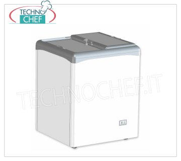 Technochef - Well Freezer, Blind Doors, lt.112, Static, Temp.-25 ° / -18 ° C, mod.VIC150CCS Horizontal well freezer, 2 blind sliding doors, capacity lt. 112, temperature -25 ° / -18 ° C, static refrigeration, Gas R290, V.230 / 1, Kw / 24h.0.87, Weight 48 Kg, dim .mm.682x651x865h
