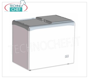Technochef - Well Freezer, Blind Doors, lt. 208, Static, Temp.-25 ° / -18 ° C, mod.VIC220CCS Horizontal well freezer, 2 blind sliding doors, capacity lt. 208, temperature -25 ° / -18 ° C, static refrigeration, Gas R290, V.230 / 1, Kw / 24h.1.04, Weight 54 Kg, dim .mm.1002x651x865h