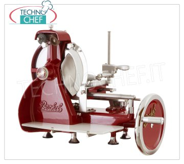 Berkel - MANUAL FLYWHEEL SLICER, blade Ø 265 mm, Mod.B2 Manual flywheel slicer, brand BERKEL, red color, with blade diameter 265 mm, weight 33, dim.mm.680x530x540h