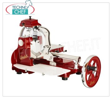 Berkel - FLYWHEEL MANUAL SLICER, blade Ø 300 mm, Mod.B3 Manual flywheel slicer, Brand BERKEL, red color, with blade diameter mm.300, Weight 46 Kg, dim.mm.805x670x700h