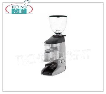 WEGA - Technochef, Automatic Professional coffee doser, micrometric adjustment, Automatic coffee grinder-doser, with micrometric grinding adjustment, stroke counters and hitchhiking, 0,8 Kg hopper capacity, 58 mm burrs diameter, hourly production 6 Kg / h, speed 1,340 rpm, V.230 / 1, Kw.0, 22, Weight 10 Kg, dim.mm.165x305x495h