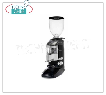 WEGA - technochef, Professional automatic coffee grinder-doser, Mod 6.4A Automatic coffee grinder-doser, with micrometric grinding adjustment, stroke counters and hitchhiking, 1.7 kg hopper capacity, 64 mm grinder diameter, hourly production 11 Kg / h, speed 1,300 rpm, V.2301, Kw.0.23, Weight 16 Kg, dim.mm.210x365x635h