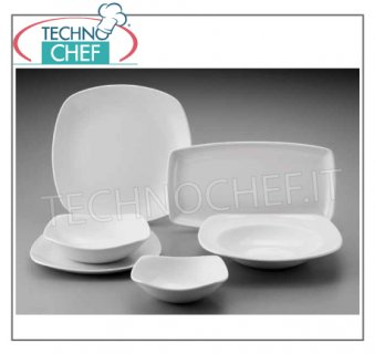 CHURCHiLL - Porcelain for Restaurant FLAT PLATE, Collection X Squared White, cm.29,3x29,3, Brand CHURCHiLL - Buyable in pack of 12 pieces